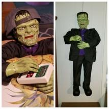 Vintage Gemmy Frankenstein Monster Eyes Light Up Hanging Halloween Prop - $99.00