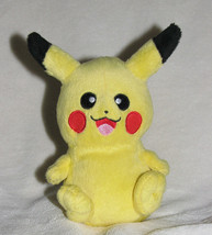 "2011 Jakks Pokemon Black & White Pikachu Plush Doll Figure Euc 6"" Stuffed Toy - $12.81"