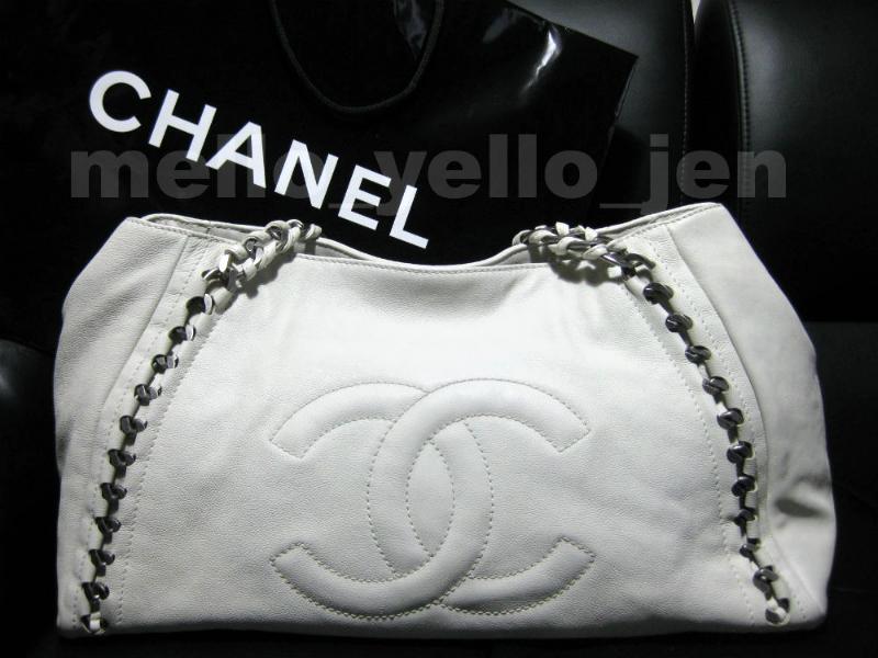 c21ca66e2d9c Img 247529771 1489565188. Img 247529771 1489565188. Previous. Chanel 06A White  Calfskin Modern Chain E W Tote Bag Silver Hardware