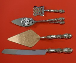 Lucerne by Wallace Sterling Silver Dessert Serving Set 4pc Custom Made - $299.00