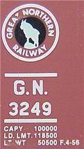 Micro Trains 23200 GN Circus 40' Boxcar 3249 - $28.50