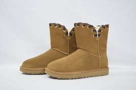 NIB UGG Aidah Suede Whipstitch Detail Boots in US Women's Size 8. Chestnut Brown - $169.00