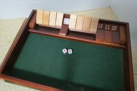 Shut the Box Game With 12 Numbers In Old World Styled Wood Box Complete ... - $29.00