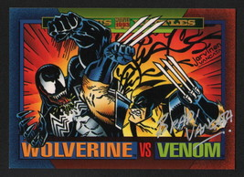 Brad Vancata SIGNED 1993 Marvel Universe Art Card ~ Wolverine Vs Venom - $14.84