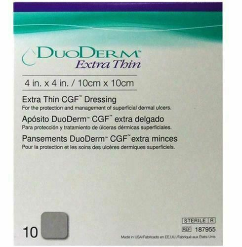 Duoderm 187955 Extra Thin CGF Dressing 10 X 10 cm / 4 X 4 in ( 10 Pack ) new