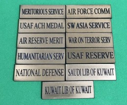 US Air Force ID Labels For Service Medals Free Shipping - $11.87