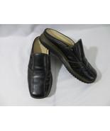 "Anne Klein AK2  Women's Shoes Black Leather Loafers 1"" Heels  Size 8M - $39.59"