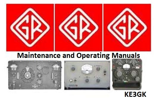 General Radio Maintenance and Operating Manuals on DVD