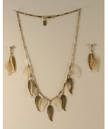 Park Lane Gold Tone and Clear Acrylic Necklace ... - $18.50