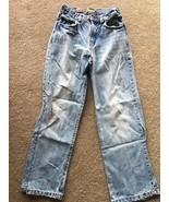 The Children's Place Loose Boot Cut Denim Jeans Boys Size 12 Adjustable ... - $9.89