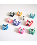 Beads Fimo Destash Butterflies Assorted Colors 10 - $3.00