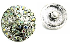 Interchangeable Button Snap Jewelry Aurora Borealis Happy Face 18mm 269 - $5.92