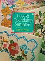 "Hard Covered Book- ""Love & Friendship Samplers"" - Sharon Perna - Gently ... - $17.00"