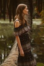 $398 NWT BCBG Max Azria Cold Shoulder Boho Bohemian Strap Maxi Dress - $94.99