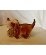 Vintage Freeman & McFarlin Ceramic Saint Bernard Dog Figurine With Barrel - $29.70