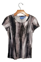Simply Vera Vera Wang Black and Gray Tee - $7.99