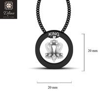 Swarovski Diamond Royal King Crown Pendant Charm Wedding Gift For Him Tw... - $149.99+