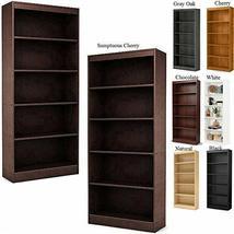 Bookcase Cabinet 2 Pcs 5 Shelf Storage Organizer Home Tall Display TkPri... - $368.28