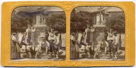 Original Vintage 1870s BOSNIA ethnic types, hold to light h/c tissue SV - $27.73