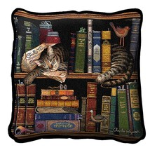 Max In The Stacks Pillow 17x17 Charles Wysocki by Pure Country Weavers - $46.74