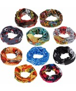 10 pc Bikers Motorcycle Riding Neck Face Mask Protection Tube Head Bands FS - $15.34