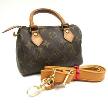 Auth Louis Vuitton Mini Speedy Hand Bag Brown Monogram Leather PVC Z0020 - $376.20