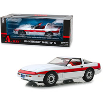 1984 Chevrolet Corvette C4 Convertible White with Red Stripe The A-Team ... - $78.97