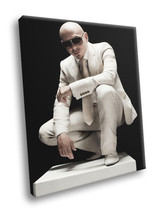 Pitbull White Suit Sunglass Hip Hop Music Rare Decor Framed Canvas Print - $14.96+