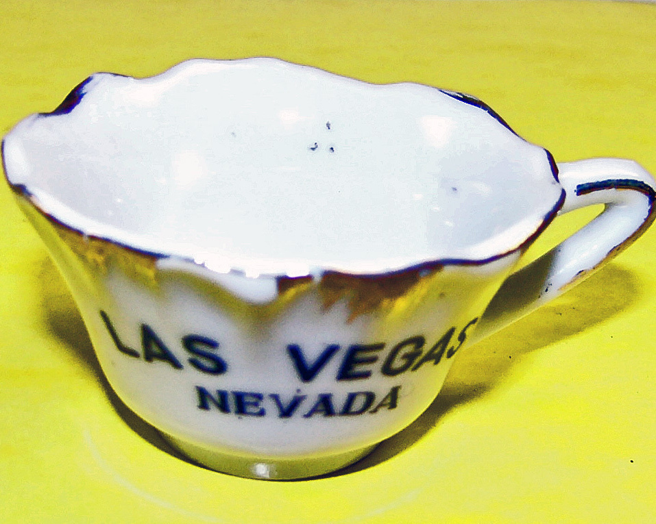 Vintage Las Vegas Porcelain Tea Cup Collectible