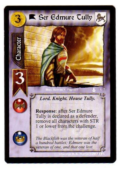 Game of Thrones CCG - Ser Edmure Tully Single Card U7 - Throne of Blades - $3.95