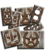 RUSTIC WESTERN COWBOY LONE STAR HORSESHOE LIGHT SWITCH OUTLET WALL PLATES DECOR - $10.99 - $21.99