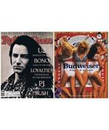 VINTAGE 1989 Rolling Stone Magazine #547 U2 w/ famous Budweiser Girls ad... - $39.59