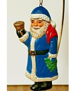 Russ Berrie Ceramic Santa with Bell and Tree Christmas Tree Ornament Ite... - $6.92