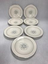 Lot 7 saucers HOMER LAUGHLIN  1950s Vintage eggshell cavalier Celeste Bl... - $44.54
