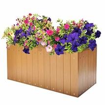 Resin Plastic Wood Raised Patio Garden Flower Planter Bed, Elevated Gard... - $1.196,86 MXN