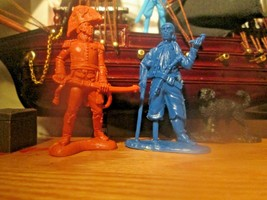 1 Publius Pirate Blue1 Chintoy 54mm 2 Fiures goes with Marx & Charbens B... - $14.69