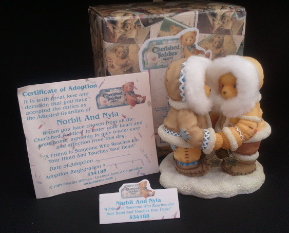 Enesco Cherished Teddies Norbit and Nyla No. 534188