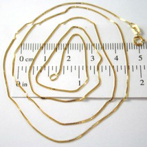 18K YELLOW GOLD CHAIN NECKLACE 0.5 mm MINI VENETIAN LINK 19.68 IN. MADE ... - $109.00