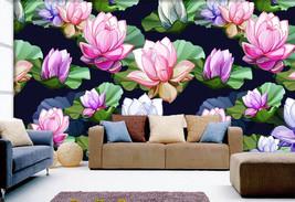 3D Farbige Lotus 366 Fototapeten Wandbild Bild Tapete Familie Kinder - $51.18+