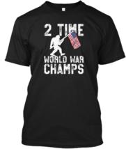"""2 Time World War Champs T-Shirts Sasquatc 100% cotton M-3XL US Men""""s tre... - $17.00"""