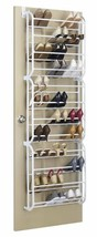 Hanging Shoe Rack Storage Over the Door 36 Pairs Shoes Organizer White B... - $42.26