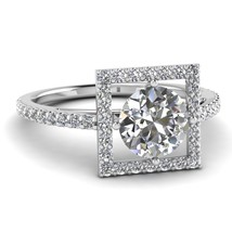 1.8 CT Diamond 925 Sterling Silver Platinum Plated Women Engagement Ring - $48.09