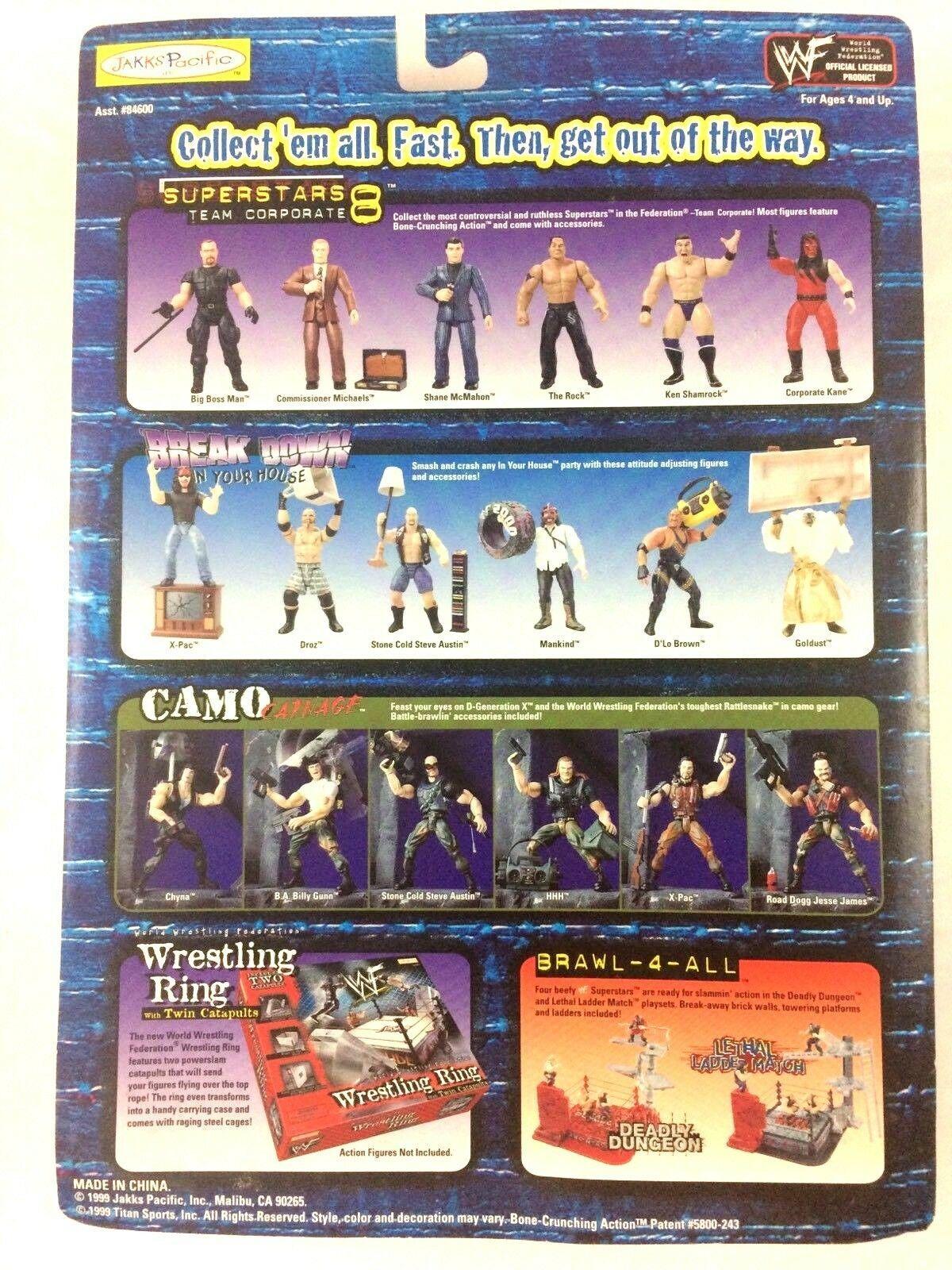 Ken Shamrock WWF WWE Jakks Action Figure Superstars 8 1999 Sealed