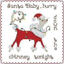 Santa Baby Cat cross stitch chart Pinoy Stitch - $5.85
