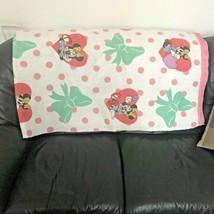 VTG Vintage 1990s Walt Disney Minnie Mouse Green Bow Polka Dot Blanket 7... - $199.99