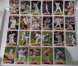 2012 Topps Series 1 & 2 Baltimore Orioles Team Set of 23 Baseball Cards - $4.99