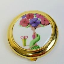 Estee Lauder Flower Show Pink Purple Flowers Lucidity Powder Compact MIBB - $49.99