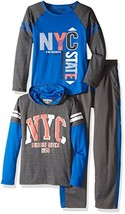 Team8 Boys' 3 Piece Hoodie, Mesh Track Pant, and Colorblock Raglan Graph... - $48.51