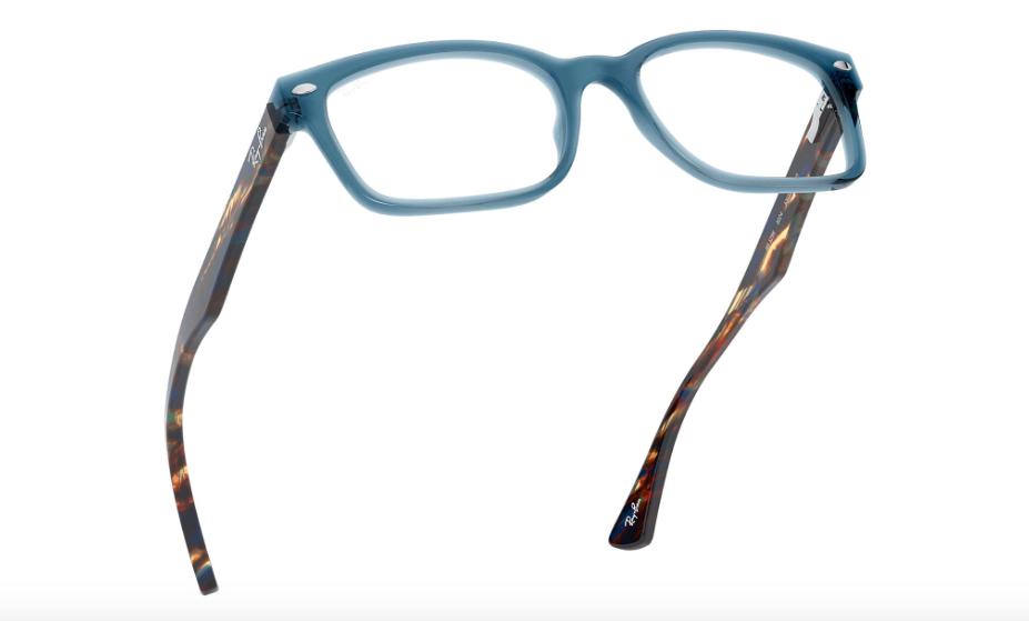 Unisex Ray Ban RX5286 8024 Rectangle Eyeglass Frame - Blue, 51mm image 6