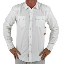 NEW NWT LEVI'S MEN'S CLASSIC LONG SLEEVE BUTTON UP SHIRT WHITE 3LDLW0921 image 1